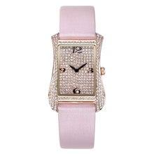 2020 New Leather strap watches women quartz watch female rose gold diamond bracelet watch waterproof top brand luxury clock hot