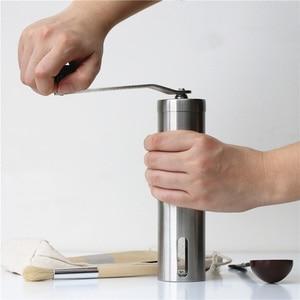 Image 5 - נייד נירוסטה ביתי מטחנת קפה מכונה ידנית פלפל מטחנות מקומי שחיקה מטבח כלים