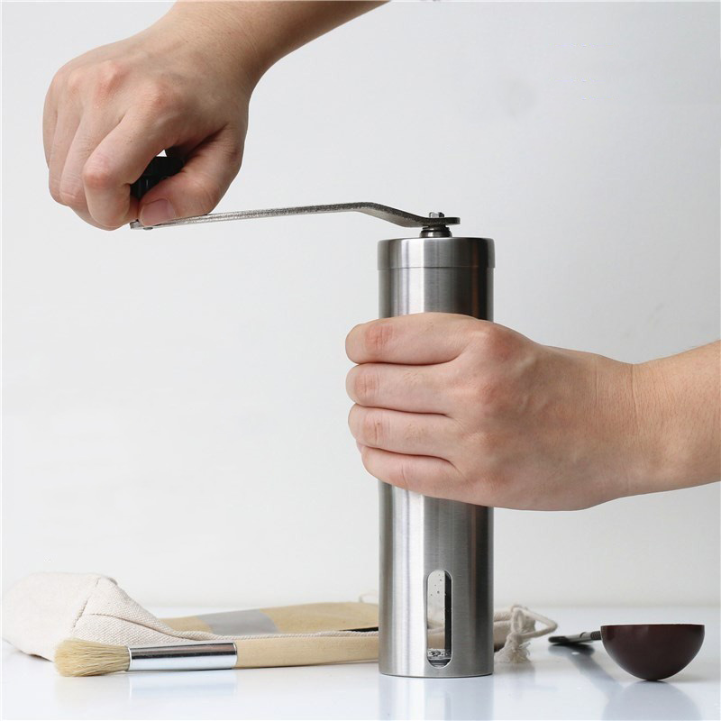 Image 5 - Portable Stainless Steel Grinder Household Coffee Machine Manual  Pepper Grinder Coffee Mill Domestic Kitchen Grinding ToolsManual Coffee  Grinders