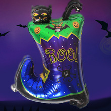 Manufacturers selling Halloween balloon decoration to the hotel KTV bars boots shoes modelling aluminum film