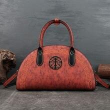 Женская сумка через плечо aeclvr винтажная большая из натуральной