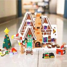 10267 1477 шт серия Пряничный дом Строительные блоки Кирпич образовательные игрушки legoinglys рождественские подарки