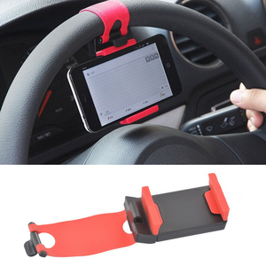 Car Phone Holder Car Steering Wheel Clip Mount Holder Stand Red for Mobile Phone GPS Accessories Car Styling
