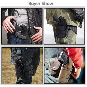 Tactical Molle Gun Holster Belt Pistol Holster for Universal Handgun Beretta Revolver Glock 1911 17 92 96 Airsoft Shotgun Pouch 5