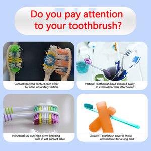 Image 4 - 2 en 1 esterilizador de cepillo de dientes con luz UV, soporte ultravioleta para pasta de dientes, dispensador de exprimidores automáticos, juego de baño para el hogar