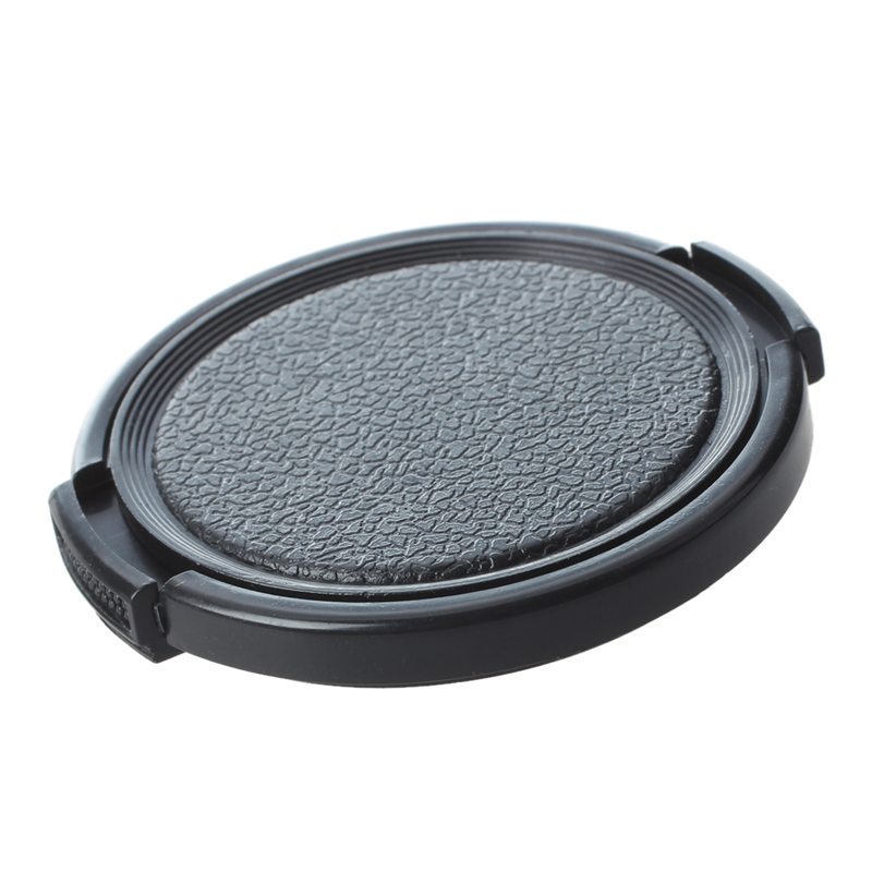 SODIAL(R) Textured Black Plastic 52mm Lens Cover Cap for Camera