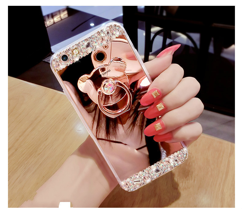 He373b32002c94fb5833c0f948167576fj Crystal Phone Case For iPhone 11 Pro Max Diamond Luxury Cover For iPhone 7 8 6 6s Plus Rhinestone Mirror For iPhone XS XR Xs Max