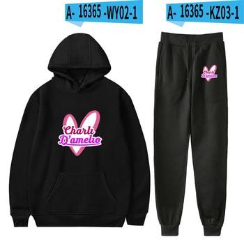Nes Charli Damelio Merch Hoodie Womens Tracksuit Sweatpants Suit Charlie Damelio Shirt Trousers Sets Unisex Clothes Print Casual 24