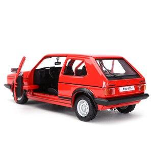 Image 4 - Bburago 1:24 1979 ゴルフMK1 gtiホットハッチ静的ダイキャスト車両モデルカーのおもちゃ