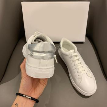 2019 Autumn White Shoes Women Casual Sneakers Real Leather Fashion Brand Ladies New footware Female zapatos de mujer Breathable