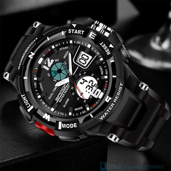 Sport Military Wrist Watch Men Watches Brand Male Watch For Men Clock Dual Display Wristwatches Army Outdoor Waterproof Hours