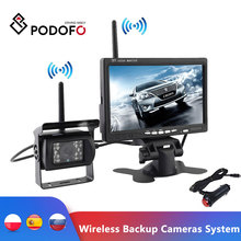 Podofo Drahtlose Backup-Kameras System Einparkhilfe Nachtsicht + 7