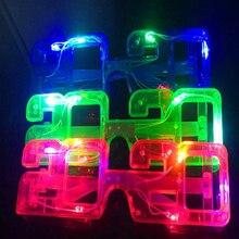 20 шт./лот светодиодный солнцезащитные очки светодиодный светильник для глаз сверкающие очки для вечеринки для рождественского бара KTV вечерние светящиеся очки