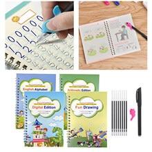 Cahier de pratique réutilisable, cahier de calligraphie, dessin, maths, Alphabet, nombres