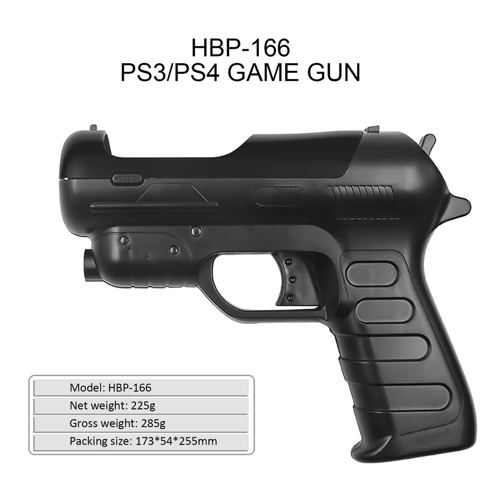 For <font><b>Ps4</b></font> <font><b>Vr</b></font> Handle Butt Auxiliary Shooting Game Light Gun For Move Handle Game Gun Somatosensory Game image