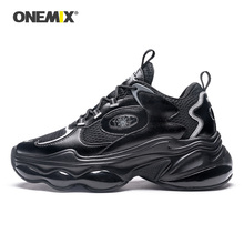 ONEMIX 2020 New Arrival Unisex Running Shoes Black Height Increasing Me