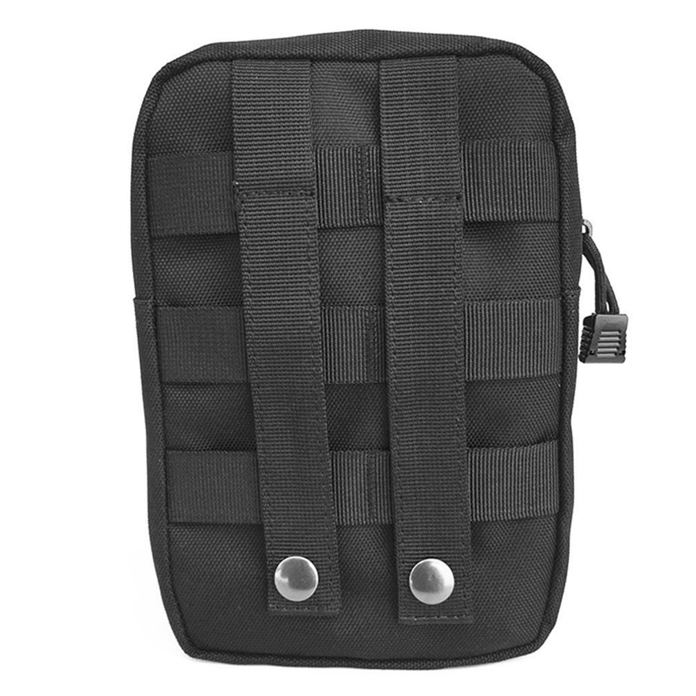 Multifunction Tactical Bag Zipper Closure Storage Bag Small Waist Pack Outdoor Backpack Attachment Camping Hiking Pouch
