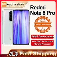 Xiaomi Redmi Note 8 Pro 6GB 128GB 64GB versión Global Smartphone NFC 64MP Quad Cámara Helio G90T Octa Core 6,53