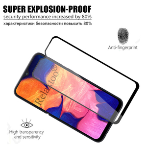 Image 5 - 2pcs tempered glass For samsung galaxy a10 protective glass on the sumsung samsun a 10 10a a105 a105F sm 105F screen protector