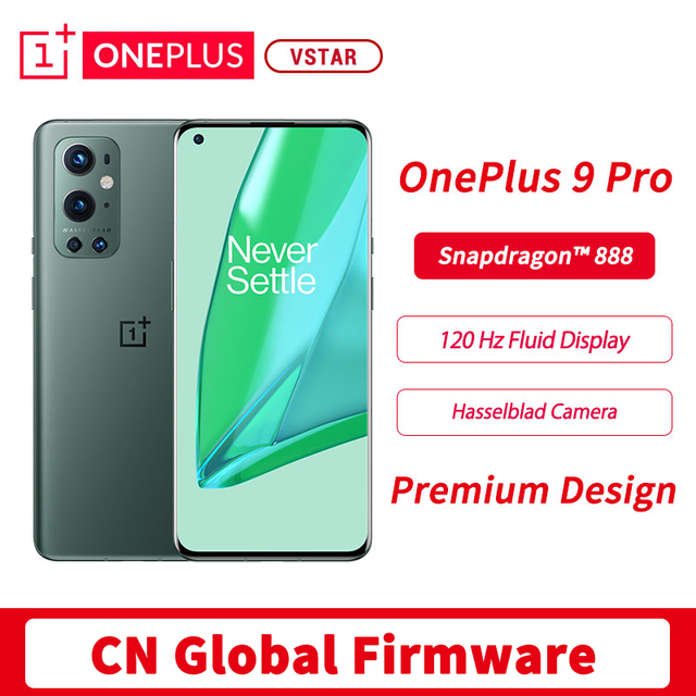 Original Global Firmware Oneplus 9 Pro 5G SmartPhone 6.7 inch 120Hz LTPO AMOLED Snapdragon 888 Octa Core 65W FastCharge 1