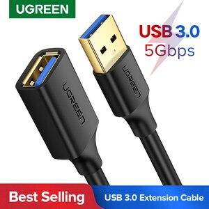 USB удлинительный кабель Ugreen, кабель USB 3.0 для Smart TV, PS4, X-Box One, SSD, USB3.0, 2.0, удлинитель кабеля для передачи данных, удлинительный кабель для Mini USB