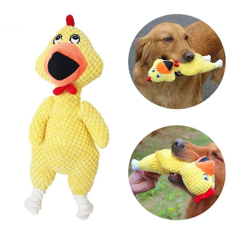 Screaming Chicken Squeeze Sound Toy Pets Dog Toys Product Shrilling Decompression Tool Squeak Vent chicken Toy 3 Size