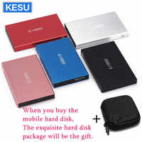 Original KESU 2.5 pouces disque dur externe stockage 320G 500G USB3.0 1 to 2 to 750G HDD Portable externe HD disque dur LOGO personnalisé