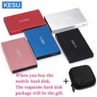 Original KESU 2.5 pouces stockage de disque dur externe 320G 500G USB3.0 1 to 2 to 750G HDD Portable externe disque dur HD LOGO personnalisé