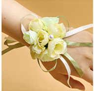 Wrist Korsase Bridesmaid Sisters Hand Bunga Buatan Bride Bunga untuk Pernikahan, Menari Pesta Dekorasi Bridal Prom