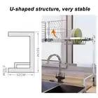 65/85cm acier inoxydable cuisine plat Rack U forme évier Drain Rack 2 niveaux plat organisateur étagère stockage titulaire - 2