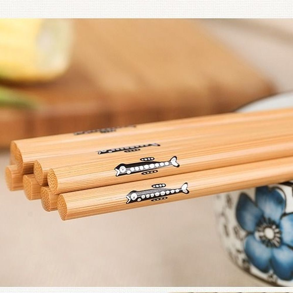 Многоразовые бамбуковые японские деревянные палочки ручной работы