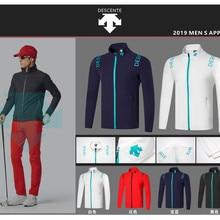 QD2019 мужская Тонкая куртка для гольфа, 4 цвета, одежда для гольфа, S-XXL на выбор, рубашка для гольфа