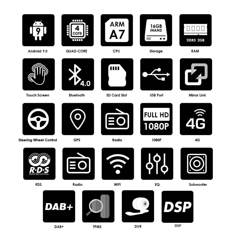 2din Android 9.0 Quad Core 2GB 16GB DVD Do Carro para Passat CC Polo GOLF 5 6 Touran EOS t5 Sharan Tiguan GPS Radio bt