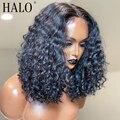 Джерри вьющиеся волосы 4x4 кружева закрытие парик предварительно вырезанные Синтетические волосы на кружеве человеческих волос парики для ...