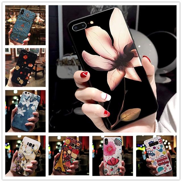 For Huawei Y5 Lite 2018 Case 5.45'' Black Bumper Emboss Soft Silicone Phone Back Cover For Huawei Y5Lite Y 5 Lite 2018 DRA-LX5