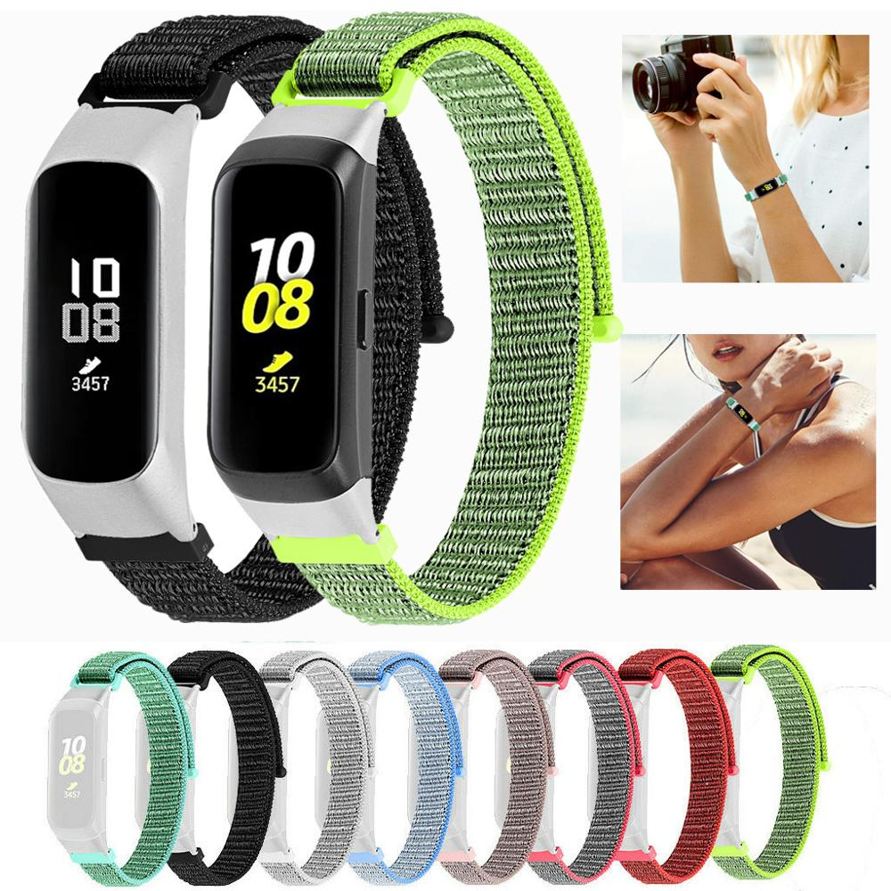 Nylon Loopback For Samsung Galaxy Fit-e SM-R375 Bracelet Strap Nylon Band Watchband With Frame Case For Galaxy Fit SM-R370