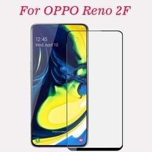 3D için tam tutkal temperli cam OPPO Reno 2F CPH1989 tam kapak 9H koruyucu ekran koruyucu film OPPO Reno 2F CPH1989