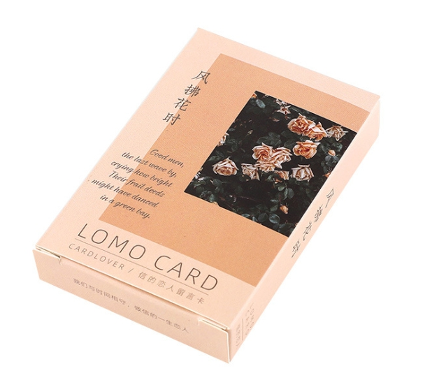 52mm*80mm Flower Wind Paper Greeting Card Lomo Card(1pack=28pieces)