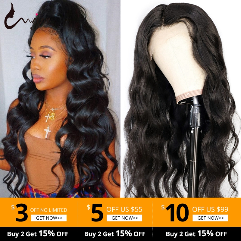 Lace Closure Wigs Human Hair Indian Body Wave Natural Black Lace Front Wig For Black Women 4X4 &13x4 Closure Wigs