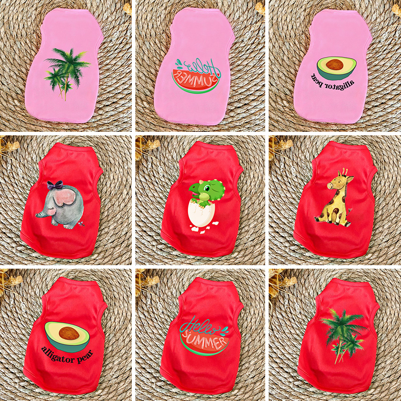 Summer Pet Dog Clothes for Small Dog Shirt Clothing for Cat Pet Clothes for Dogs Jacket Vest Clothing Chihuahua Costume Pets