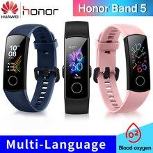 Huawei pulseira smartband honor band 5, versão global, oxigênio do sangue, smartwatch, amoled, monitoramento de atividades físicas, monitoramento de sono e batimentos cardíacos
