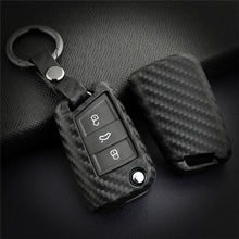 Car Styling Key Case Fob Cover For VW POLO Golf Tiguan 2019 Passat Sharan Eos Up Caddy For Skoda For Seat Leon Key Ring Shell