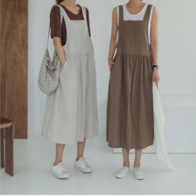 2020 New Summer Dress  Ladies Dress Plus Size XL- 5XL Cotton Linen Women Tank Vestidos  Sleeveless Robe Dress Pockets Clothes