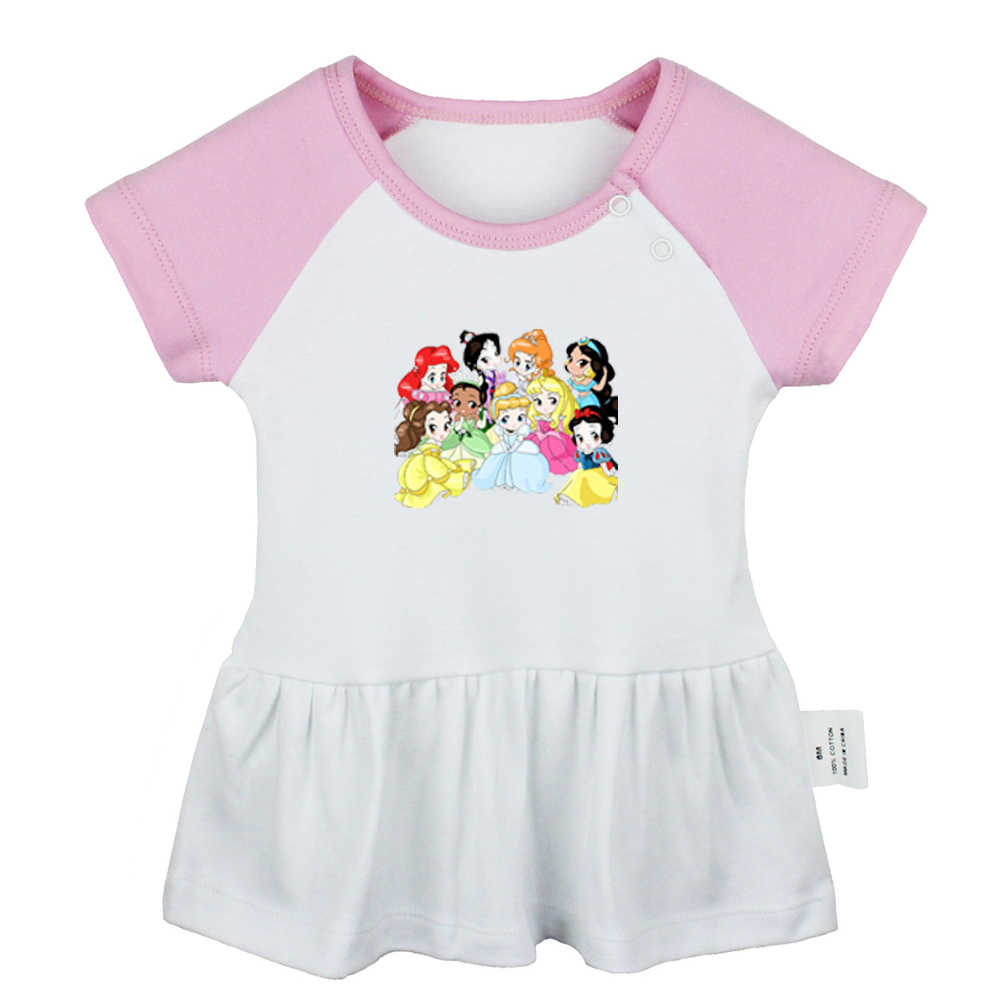 Schattige Prinses Ariel Belle Sneeuwwitje Fall Out Boy Fob Rock Band Ontwerp Pasgeboren Baby Meisjes Jurken Peuter Baby Katoenen kleding