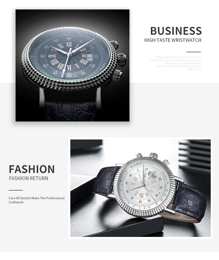 He3767e5537b94dd6a75e1d2574533c8a2 Luxury Business Men's Watches relogio masculino PU Leather Strap Hiqh Quality Dress Watch Men Classic Casual Quartz Male Clock