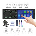 Автомобильный радиоприемник с сенсорным экраном 4,1 дюйма, Bluetooth, стерео, аудио, музыка, FM, Aux, TF, mp3-плеер, задняя камера заднего вида, USB-Зарядка ...
