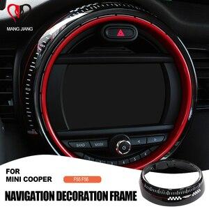 Image 1 - استبدال إطار عرض ملصق غطاء لسيارات BMW Mini كوبر F55 F56 سيارة مركز التحكم الشاشة اكسسوارات الإطار Jcw السيارات يغطي