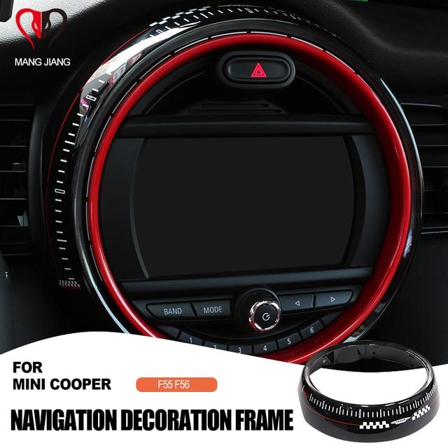 استبدال إطار عرض ملصق غطاء لسيارات BMW Mini كوبر F55 F56 سيارة مركز التحكم الشاشة اكسسوارات الإطار Jcw السيارات يغطي