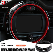 Replacement Display Frame Cover Sticker for BMW Mini Cooper F55 F56 Car Center Control Screen Accessories Frame Jcw Auto Covers