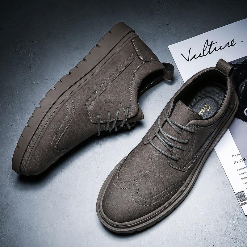 Zapatos italianos de cuero para hombre, elegante vestido de moda, calzado masculino, cómodo trabajo de negocios, mocasines de cuero, zapatos oxford para hombres